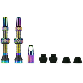 Muc-Off MTB & Road Tubeless Valve Kit 60mm, Iridescent